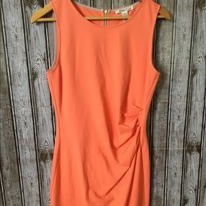 NWT Coral Full Back Zipper Bunched Dress